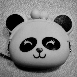Handbags - Silicone girl panda coin purse